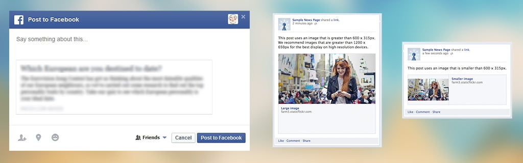 Fix to no image problem when sharing url first time using facebook open graph programmatically