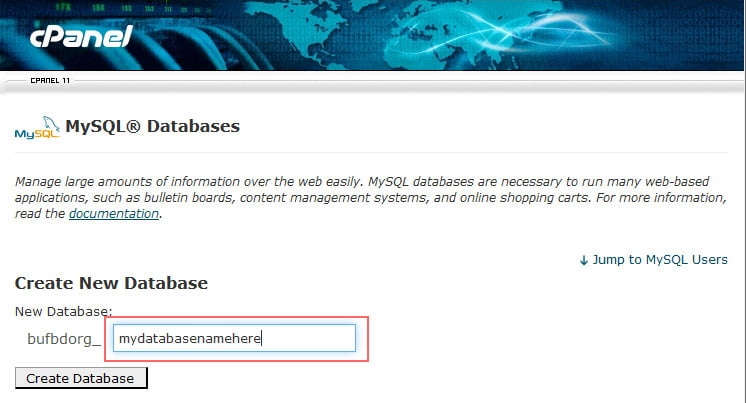 Move WordPress Site from Localhost to Live Server - Create New Database