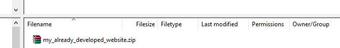 Upload your website to the live server using Filezilla