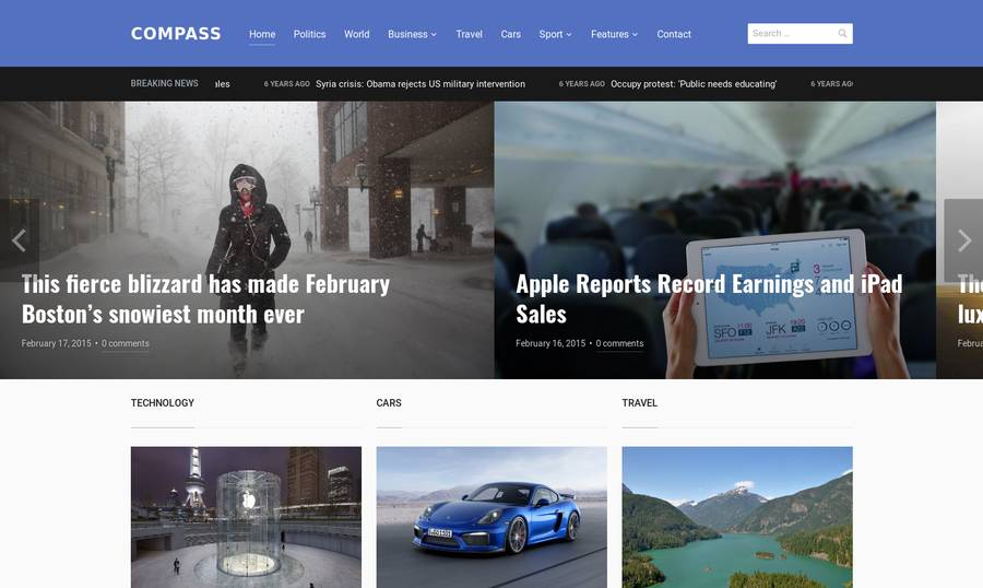 WordPress Newspaper Theme - Compass