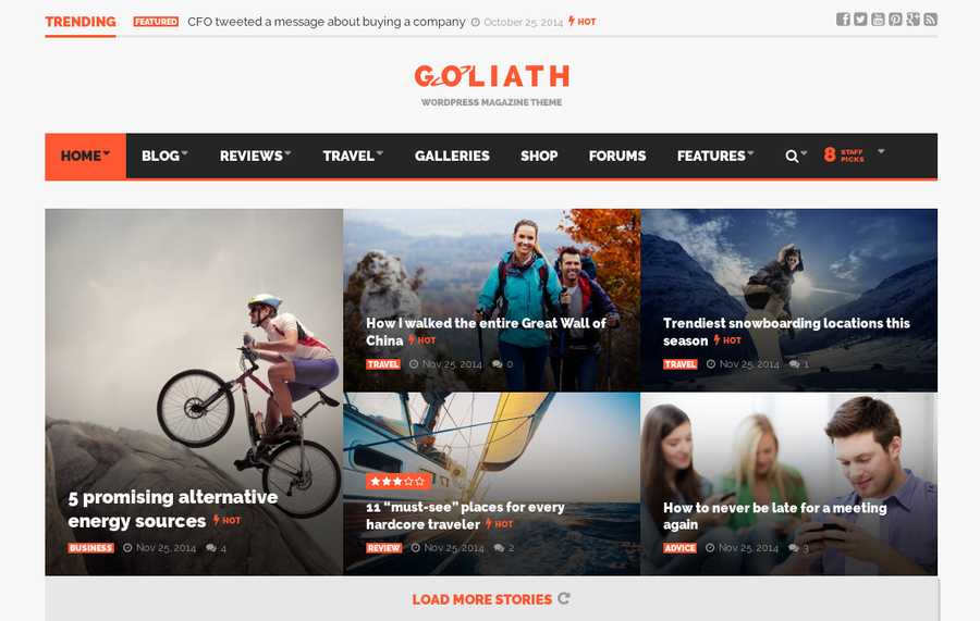 WordPress Newspaper Theme - Goliath