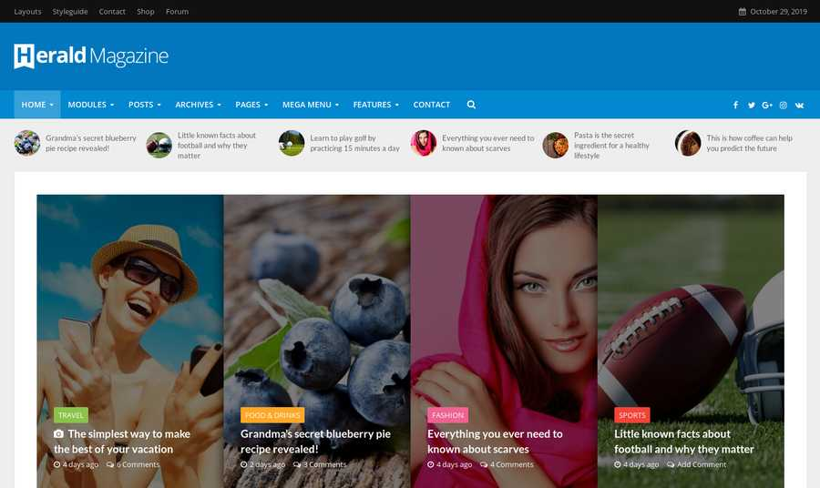 WordPress Newspaper Theme - Herald