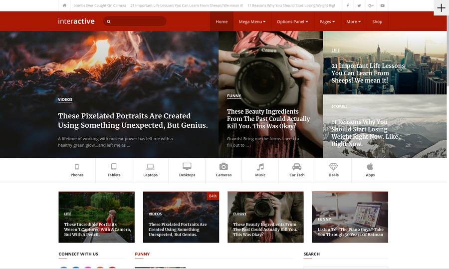 WordPress Newspaper Theme - Interactive