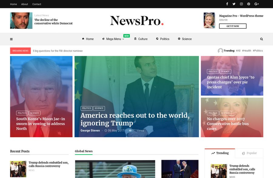 WordPress Newspaper Theme - MagPlus