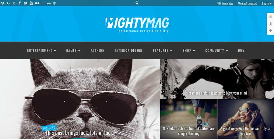 WordPress Newspaper Theme - Mighty Mag