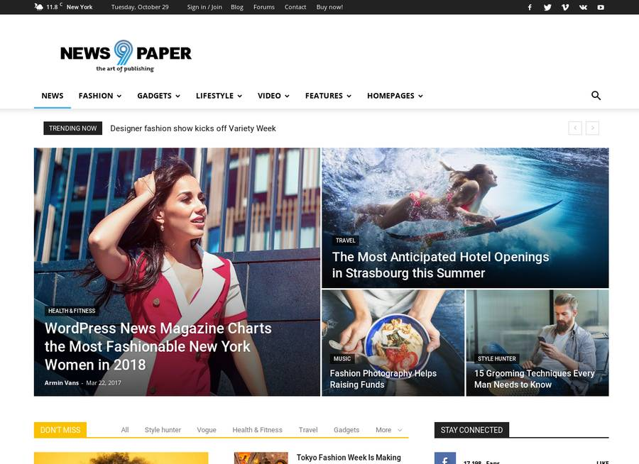 WordPress Newspaper Theme - News9paper