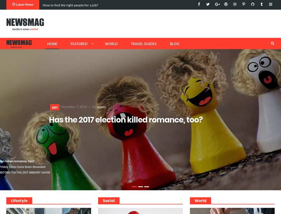 WordPress Newspaper Theme - Newsmag Pro