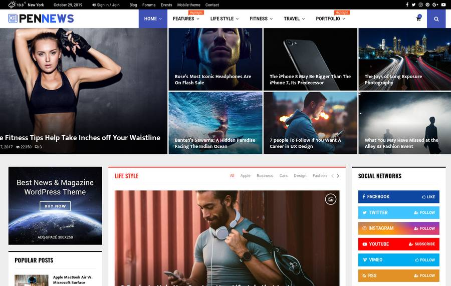 WordPress Newspaper Theme - PenNews