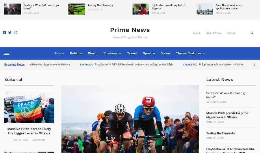 WordPress Newspaper Theme - Prime News