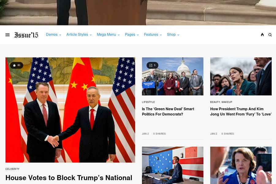 WordPress Newspaper Theme - The Issue