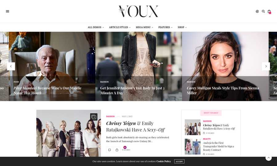 WordPress Newspaper Theme - The Voux