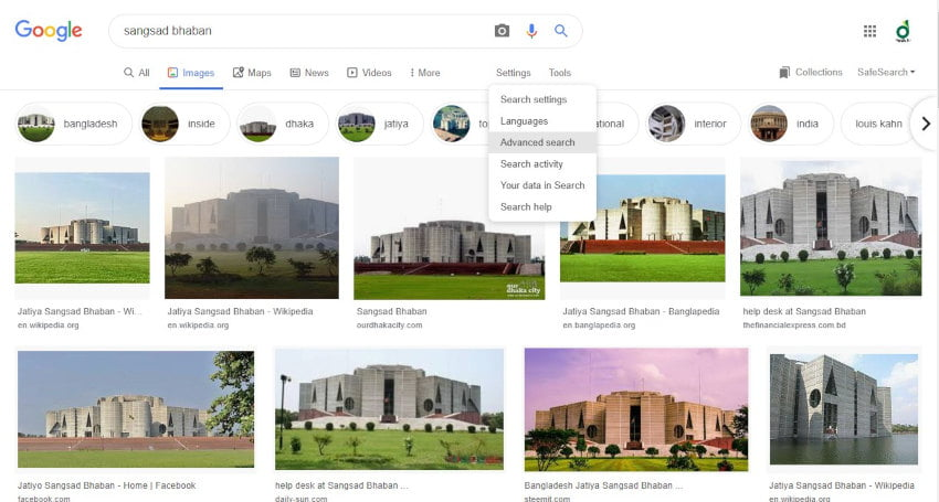 Google Advanced Image Search