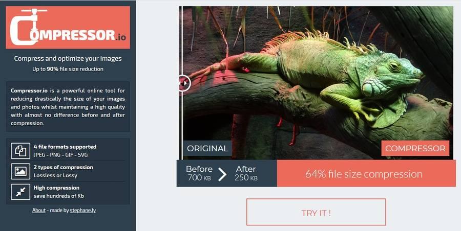 Image Optimization Tools - Compressor.io
