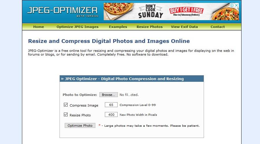 Image Optimization Tools - JPEG Optimizer