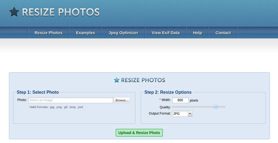Image Optimization Tools - Resize Photos