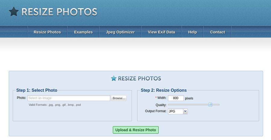 Image Optimization Tools - Resize Photos
