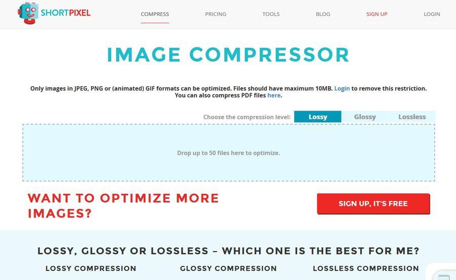Image Optimization Tools - ShortPixel