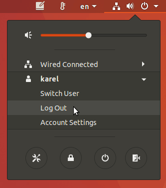 ubuntu log out