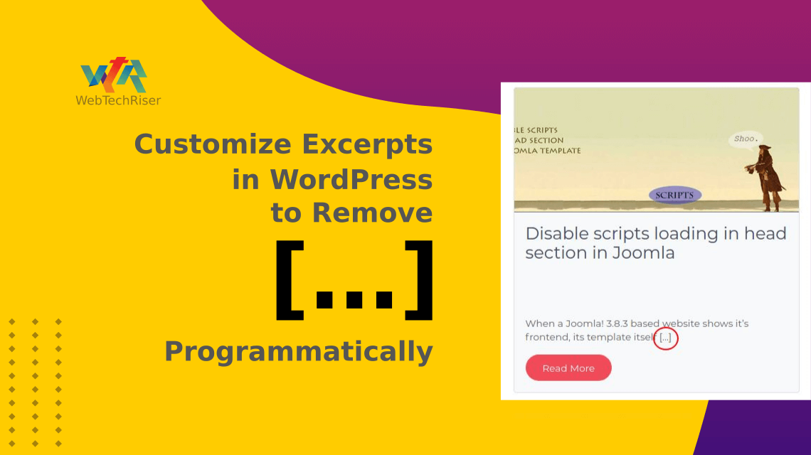 How To Customize Excerpts in WordPress to Remove the […] Programmatically