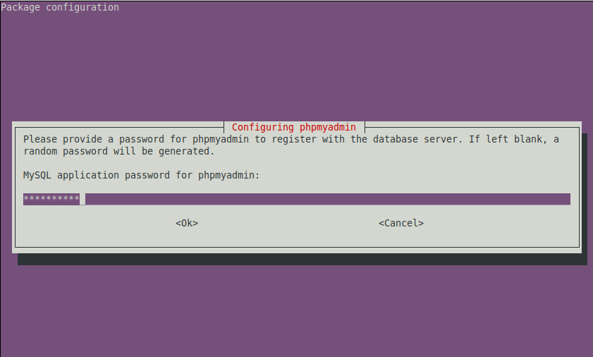 Provide a secured Password for PhpMyAdmin